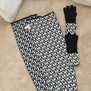 Michael Kors Scarf and Glove Set